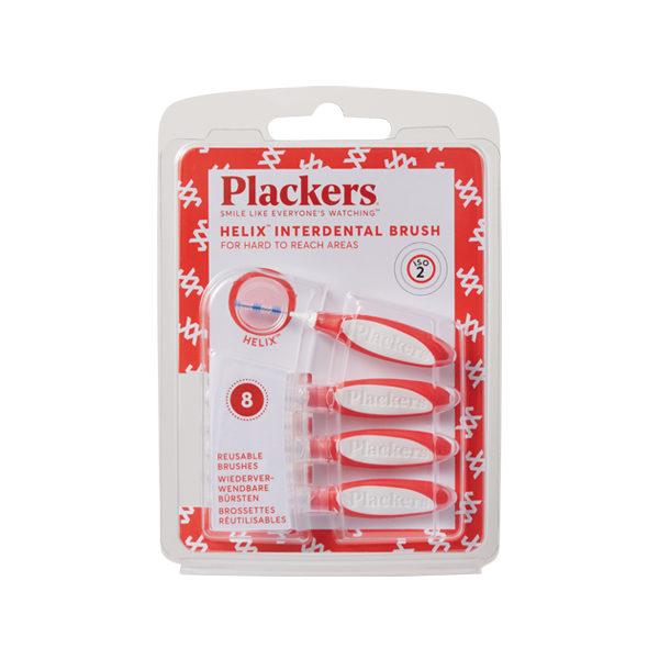 プラッカーズ・タフスパイラル歯間ブラシ 赤 0.5mm SSサイズ 8本入