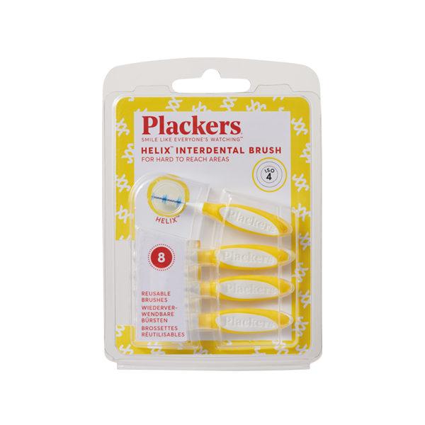 プラッカーズ・タフスパイラル歯間ブラシ 黄 0.7mm Mサイズ 8本入